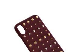 画像6: Studs iPhone case (BURGUNDY) (6)