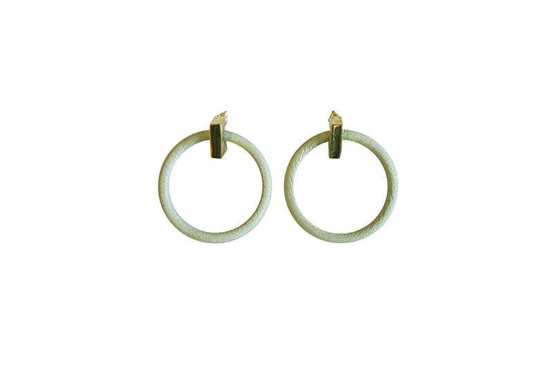 """画像1: Wrapped pierce/earing """"ROUND""""(MINT) (1)"""
