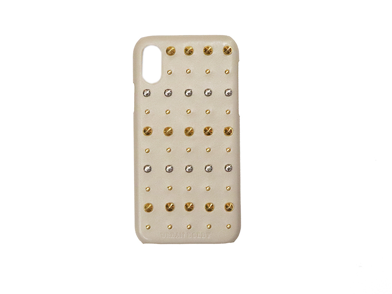 画像1: Studs iPhone case (GREIGE) (1)