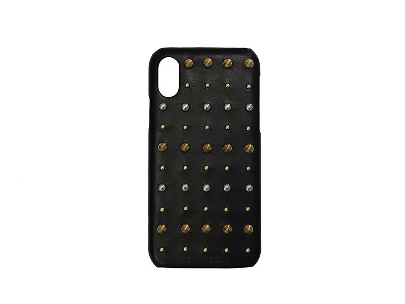 画像1: Studs iPhone case (BLACK) (1)