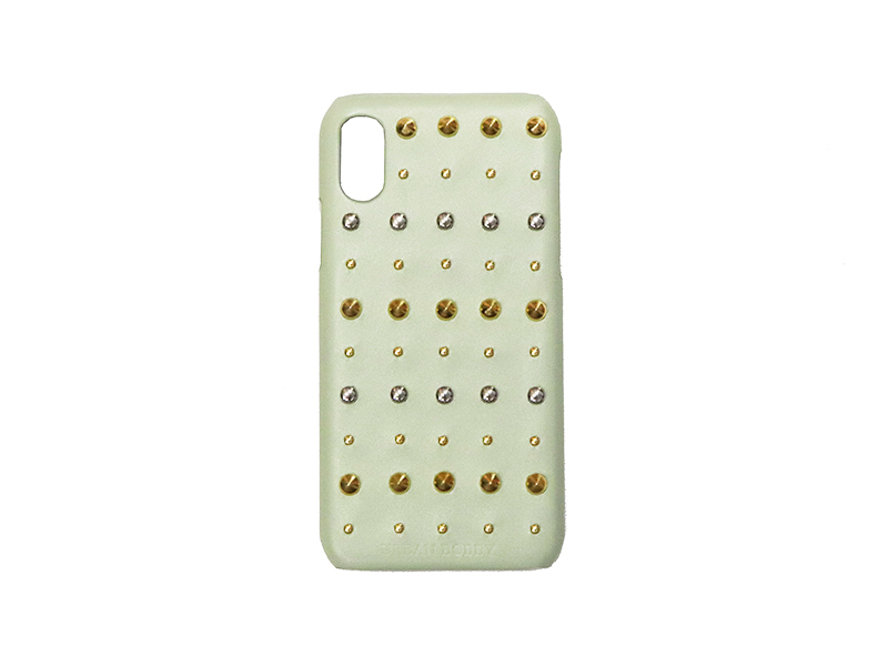 画像1: Studs iPhone case (PISTACHIO) (1)