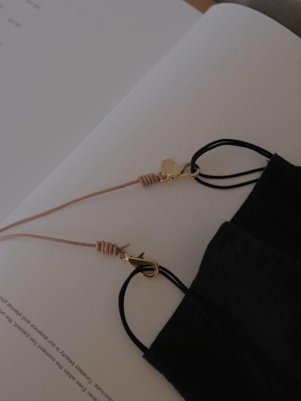 画像1: Leather Mask Strap (1)
